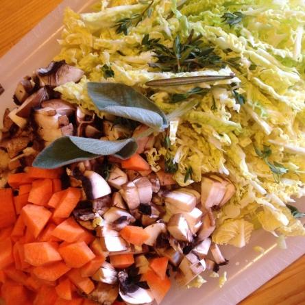 Des légumes pour la soupe de restes