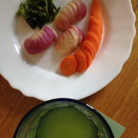 …et pour boire avec ces légumes salés, un thé vert